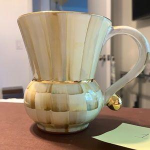 Authentic Mackenzie Childs parchment mug